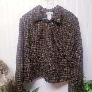 Dressbarn Tweed Blazer Jacket Size 16